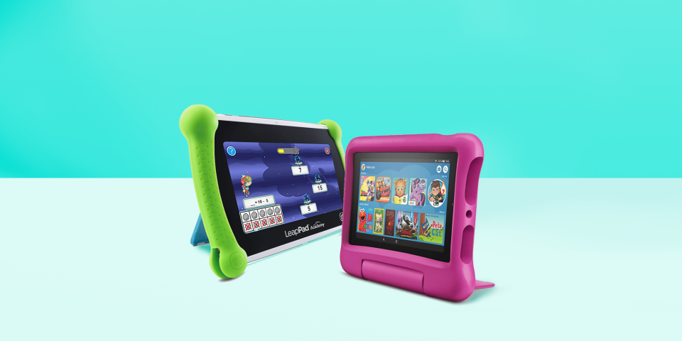 """<p>It's no surprise that kids are always begging to play a game on their parents' tablets or cell phones — adults are always on them! That's why tablets for kids exist: so you don't have to worry about handing them <em>your</em> precious iPad, only to find that it breaks the second they drop it. These kid-friendly tablets are often similar to regular versions, except they're often more durable, offer parental controls for content and screentime and come with <a href=""""https://www.goodhousekeeping.com/electronics/g28212386/best-apps-for-kids/"""" rel=""""nofollow noopener"""" target=""""_blank"""" data-ylk=""""slk:educational apps for kids"""" class=""""link rapid-noclick-resp"""">educational apps for kids</a>. <br></p><p>At the <a href=""""https://www.goodhousekeeping.com/institute/about-the-institute/a19748212/good-housekeeping-institute-product-reviews/"""" rel=""""nofollow noopener"""" target=""""_blank"""" data-ylk=""""slk:Good Housekeeping Institute"""" class=""""link rapid-noclick-resp"""">Good Housekeeping Institute</a>, our lab experts regularly test all kinds of tech and children's products from <a href=""""https://www.goodhousekeeping.com/childrens-products/reviews/g4995/best-baby-crib/"""" rel=""""nofollow noopener"""" target=""""_blank"""" data-ylk=""""slk:cribs"""" class=""""link rapid-noclick-resp"""">cribs</a> to <a href=""""https://www.goodhousekeeping.com/childrens-products/toy-reviews/g26443909/best-new-toys-2019/"""" rel=""""nofollow noopener"""" target=""""_blank"""" data-ylk=""""slk:toys"""" class=""""link rapid-noclick-resp"""">toys</a>. And many of our engineers are parents themselves, so you can trust that our recommendations take into account the reality of everyday life.</p><h2 class=""""body-h2"""">What should parents look for in a kids' tablet?</h2><p>When shopping for a kid-friendly tablet, there are two important things to look for: <strong>storage and parental controls</strong>. Kids love to load up on apps and photos, which can eat up the internal storage space quickly. If you plan on downloading a lot of content (like videos, games or additional apps), lo"""