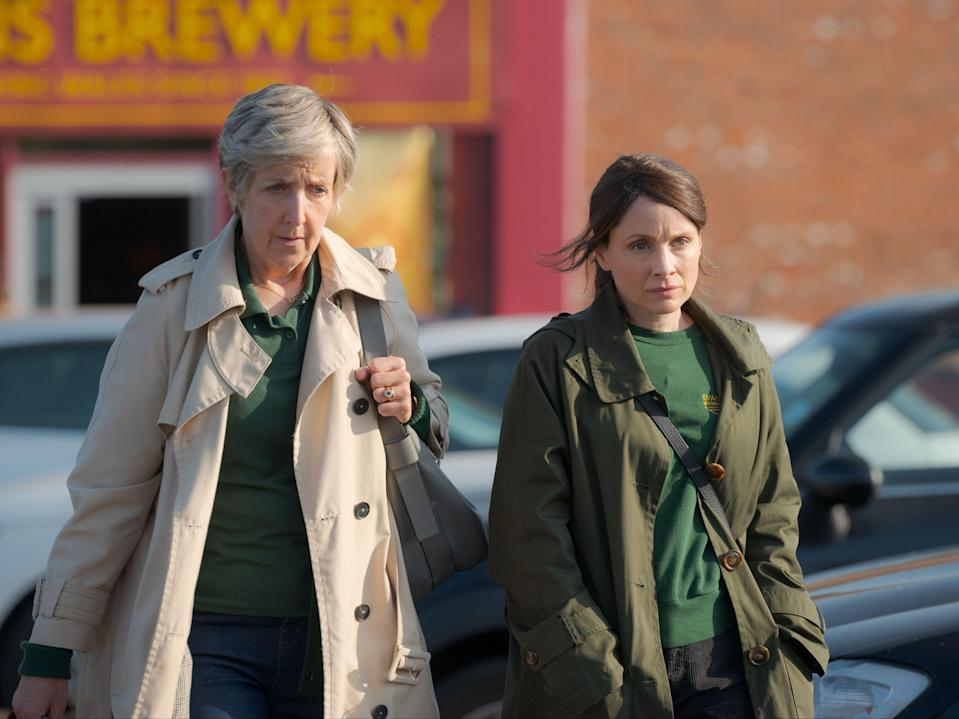 <p>Julie Hesmondhalgh as Nancy, and Laura Fraser as Anna, in 'The Pact'</p> (BBC / Little Door (The Pact) / Warren Orchard)