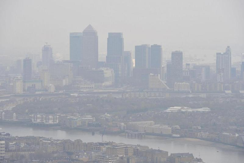 Air pollution over the capital. (PA)