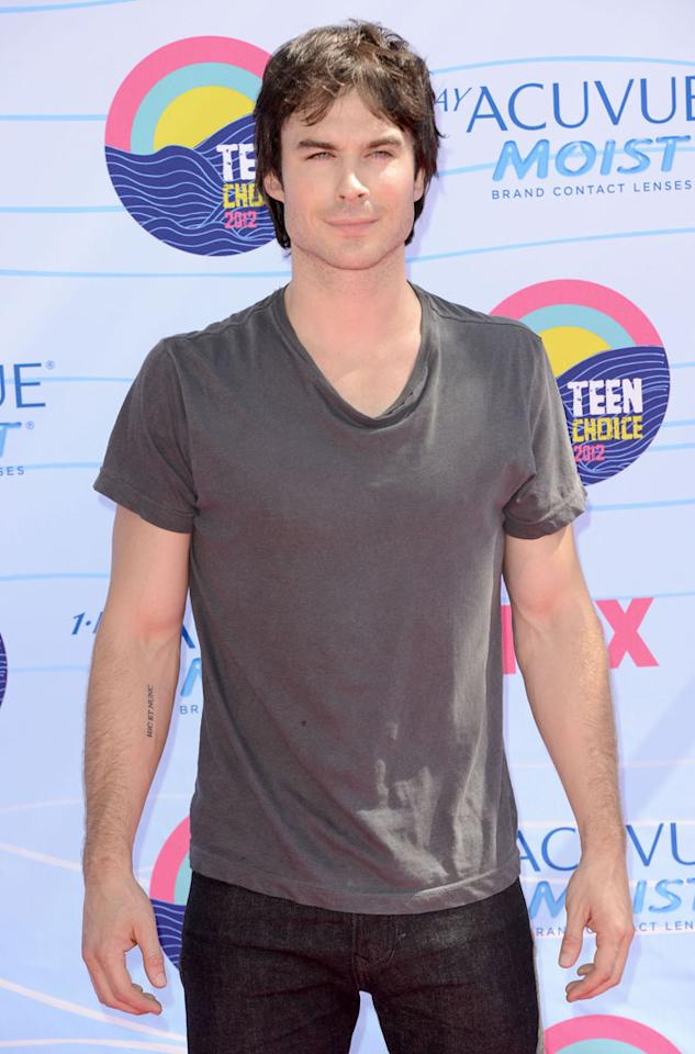 Actor Ian Somerhalder arrives at the 2012 Teen Choice Awards at Gibson Amphitheatre on July 22, 2012 in Universal City, California.