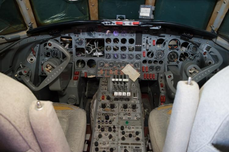 "<p>The cockpit has seen better days but could be fully restored by the right buyer. We guess you could say it's <a rel=""nofollow"" href=""https://www.youtube.com/watch?v=3rQEbQJx5Bo"">all shook up</a>. </p>"