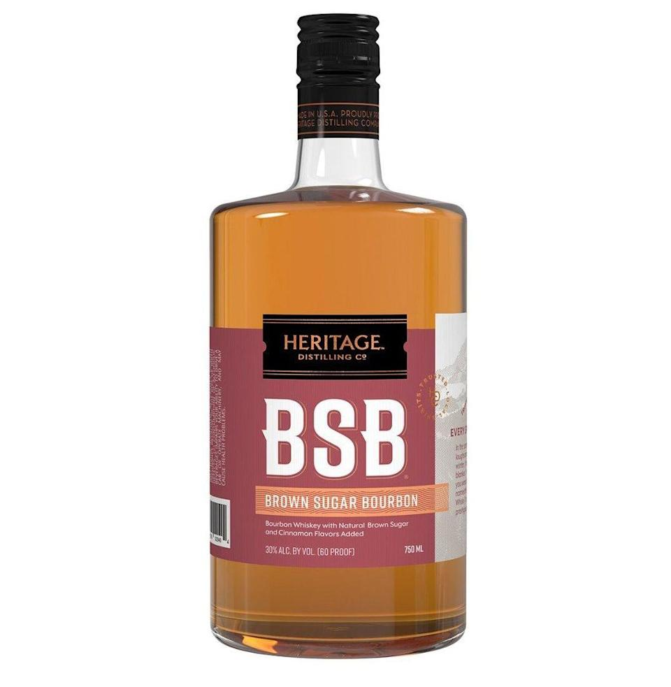 """<p><a class=""""link rapid-noclick-resp"""" href=""""https://heritagedistilling.com/products/bsb"""" rel=""""nofollow noopener"""" target=""""_blank"""" data-ylk=""""slk:Shop"""">Shop</a> <em>heritagedistilling.com</em></p><p>A cloying, flavored bourbon bottled at a paltry 60 proof that has been around since 2016, it was purchased earlier this year by the Oscar winner and has been selling like crazy since then.<br> <strong><br><em>Taste: </em></strong>3<strong><br><em>Star power: </em></strong>8<strong><br></strong><em><strong>Shamelessness:</strong> </em>7<br></p>"""