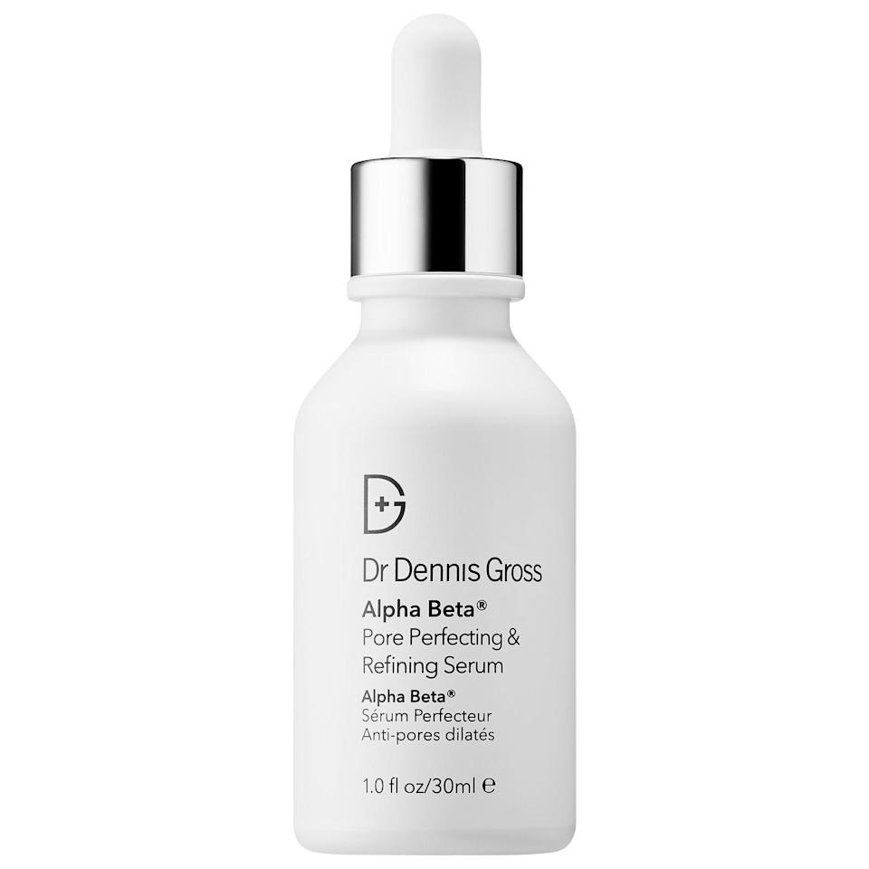"<p><strong> The Product: </strong> <span>Dr. Dennis Gross Skincare Alpha Beta Pore Perfecting &amp; Refining Serum</span> ($65)</p> <p><strong> The Rating: </strong> 4.5 stars </p> <p><strong> Why Customers Love It: </strong></p> <p>If you have combination skin and want to minimize your pores, you're going to want to try this serum. It's a blend of acids and mushroom extract that both clean and tighten pores, making them appear smaller. Customers rave that it ""made their pores look smaller overnight. Definitely would recommend if you have sensitive, oily, and large pores.""</p>"