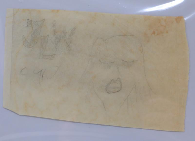 GWS Auctions's upcoming sale offers this drawing by John Lennon. (Photo: GWS Auctions)