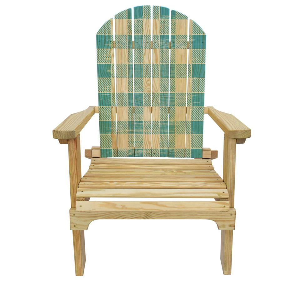 "<p>slickwoodys.com</p><p><strong>$125.00</strong></p><p><a href=""https://www.slickwoodys.com/collections/country-living-adirondack-chairs/products/country-living-blue-checker-pattern-adirondack-chair"" rel=""nofollow noopener"" target=""_blank"" data-ylk=""slk:Shop Now"" class=""link rapid-noclick-resp"">Shop Now</a></p><p>The blue pattern on this checked Adirondack chair mimics the look of an old-school webbed lawn chair. This pine model folds up for easy storage.</p>"