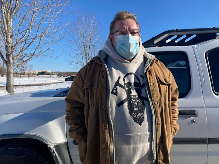 Doug Abbott, 60, of Loretto, Minnesota, said he had an 11:35 a.m. appointment at the clinic to check his blood pressure.