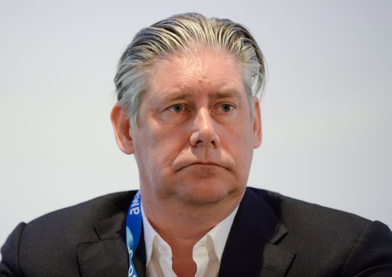 FILE PHOTO: Johan Lundgren CEO of easyJet, attends the Europe Aviation Summit in Brussels