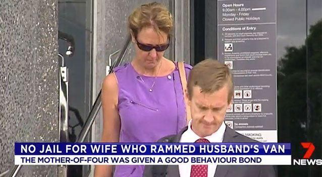 Sonya Ruprecht leaves court on Tuesday. Source: 7 News