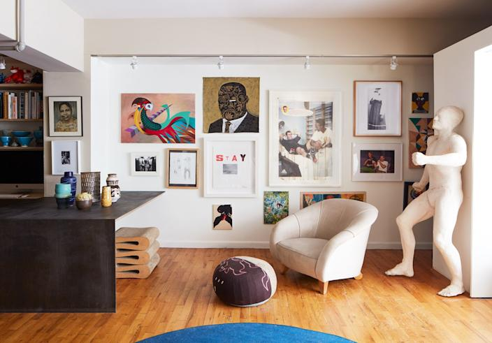 "<div class=""caption""> A Williamsburg, Brooklyn, residence by Leyden Lewis Design Studio. </div>"