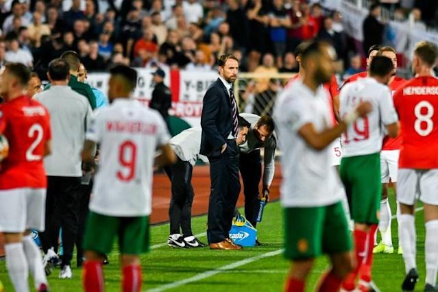 Bulgaria fan indicted while four others are fined following racist abuse at Euro2020 qualifier between Bulgaria and England (AFP Photo/NIKOLAY DOYCHINOV)