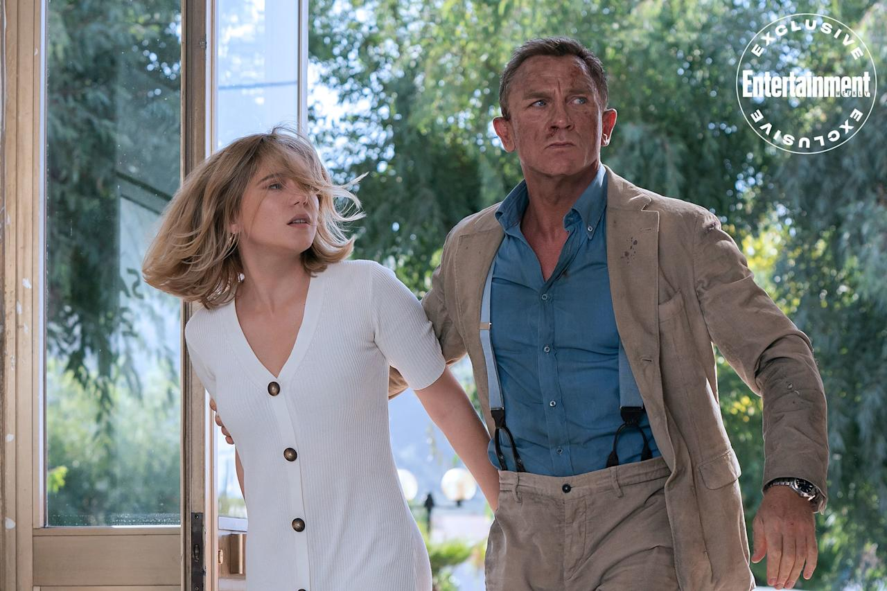 "Léa Seydoux reprises her role of French psychologist Madeleine Swann for whom Bond gave up the world of espionage at the end of <em>Spectre</em>. ""S--- happens,"" Seydoux of the pair's relationship in <em>No Time to Die</em>. ""Everything falls apart."""