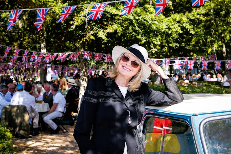 Model Twiggy at the Goodwood Revival in Chichester on 14 September 2019 [Photo: Getty]