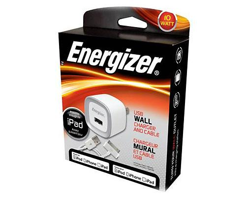 <b>Energizer USB Chargers</b><br><br>Energizer USB Chargers let you charge multiple devices, regardless of manufacturer, with one charger. The chargers are universal, simply use the USB cords you already own to charge your devices at any car or wall outlet. You can even charge two devices at once on dual chargers. Available at retail outlets across Canada, suggest price $29.99.