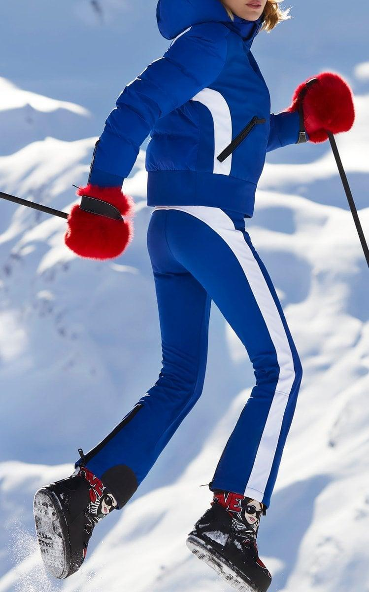 <p>We love these bright yet flattering <span>Goldbergh Runner Striped Shell Ski Pants</span> ($480). They'll help anyone find you on the slopes.</p>