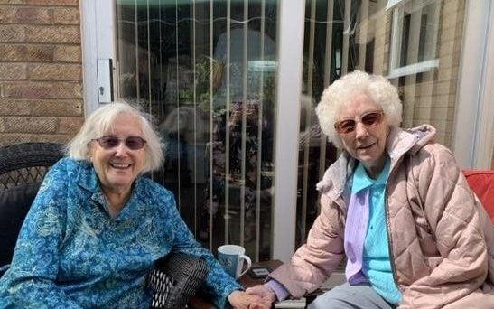 Twin sisters Dorcas Tobin and Edith Dumbleton reunite for their 100th birthday - Wessex News Agency
