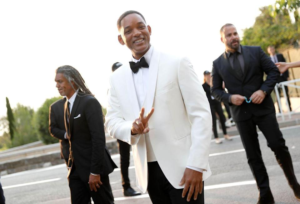 <p>Will Smith arrives at the amfAR Gala Cannes 2017 at Hotel du Cap-Eden-Roc on May 25, 2017 in Cap d'Antibes, France.</p>