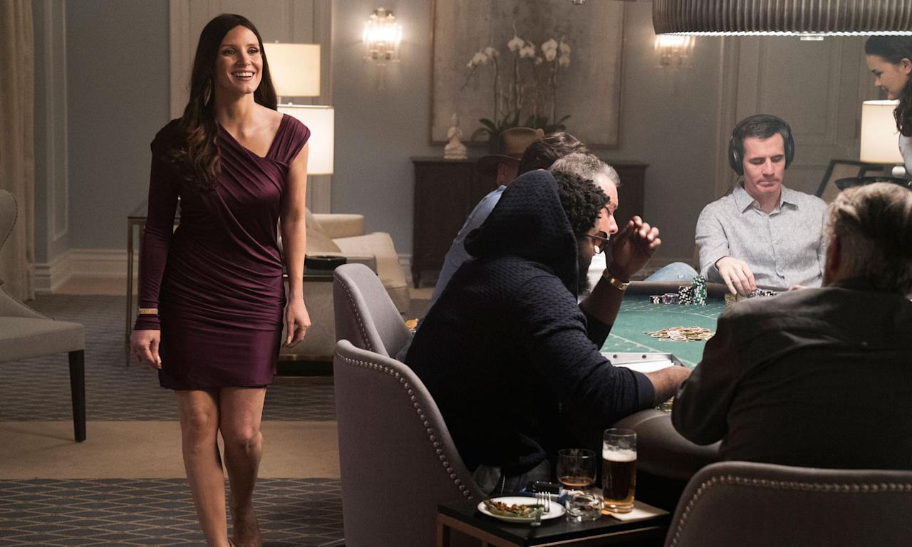 <p><i>Social Network</i> scribe Aaron Sorkin makes his directorial debut with <i>Molly's Game</i>, based on a memoir by Molly Bloom, who for a time ran the largest high-stakes poker game in the USA, attracting a wealth of high-rollers and celebrity big shots, including Leonardo DiCaprio and Ben Affleck. However, she also attracted the attention of the FBI and the Russian Mob. Jessica Chastain plays Bloom, alongside a sturdy cast including Idris Elba and Kevin Costner. </p>