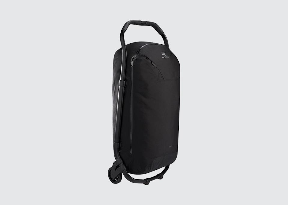 "<p>""I'm a fan of Arc'teryx, especially their rolling duffle,"" says Landed co-founder <a href=""https://www.cntraveler.com/contributor/john-montgomery?mbid=synd_yahoo_rss"" rel=""nofollow noopener"" target=""_blank"" data-ylk=""slk:John Montgomery"" class=""link rapid-noclick-resp"">John Montgomery</a>. Founded in Canada, the sporting goods company's slick gear, from anoraks and insulated jackets to backpacks and harnesses, is smart and tough.</p> <p><strong>Shop now:</strong> <a href=""https://arcteryx.com/us/en/shop/v110-rolling-duffle"" rel=""nofollow noopener"" target=""_blank"" data-ylk=""slk:arcteryx.com"" class=""link rapid-noclick-resp"">arcteryx.com</a></p>"