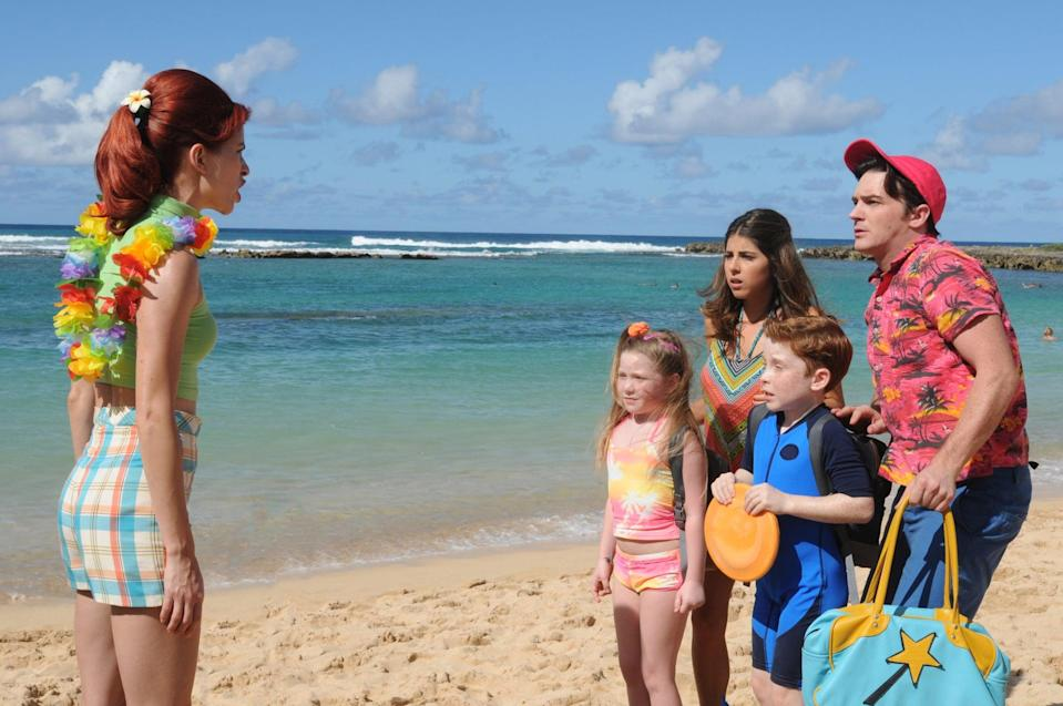 """<p><strong>Hulu's Description:</strong> """"When the source of all fairy magic, the Abracadabrium, accidentally falls into the wrong hands, it's up to Timmy, Tootie, Marty, and Mitzy to get it back and save the fairies in this live action Hawaiian adventure filled with lots of fairly odd madness!""""</p> <p><span>Stream <strong>A Fairly Odd Summer</strong> on Hulu!</span></p>"""