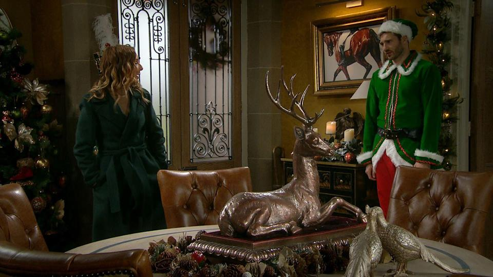 <p>Andrea agrees that Millie can spend part of Christmas Day at Home Farm.</p>
