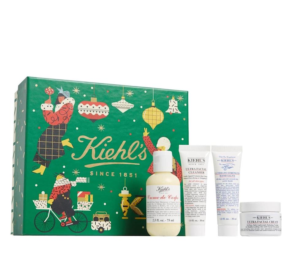 <p>Get glowing skin with this <span>Kiehl's Since 1851 Hydration Essentials Set</span> ($30).</p>