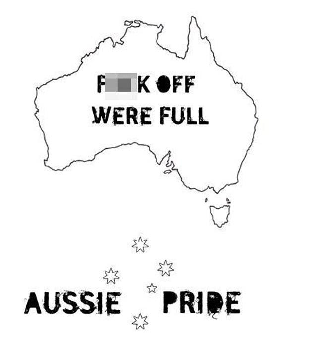 Racist Aussie imagery posted to Locky Gilbert's MySpace social media