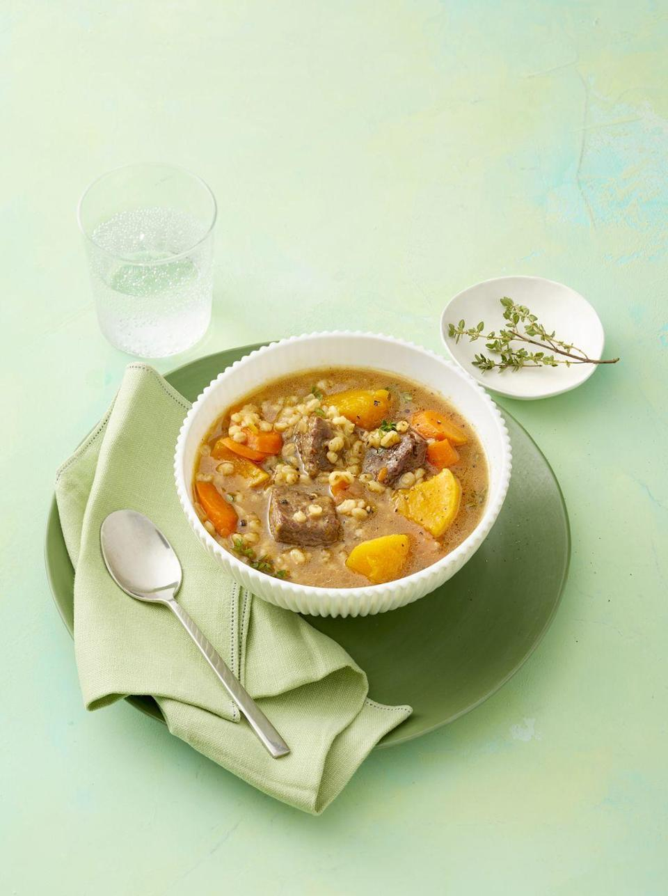 """<p>With help from your Instant Pot, this flavor-packed stew will taste like it's been simmering all day.</p><p><em><a href=""""https://www.womansday.com/food-recipes/food-drinks/a25837767/instant-pot-beef-and-squash-stew-recipe/"""" rel=""""nofollow noopener"""" target=""""_blank"""" data-ylk=""""slk:Get the recipe from Woman's Day »"""" class=""""link rapid-noclick-resp"""">Get the recipe from Woman's Day »</a></em></p>"""