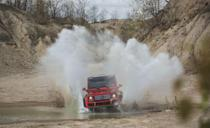 "<p>Mercedes has been building the <a href=""https://www.caranddriver.com/mercedes-benz/g-class"" rel=""nofollow noopener"" target=""_blank"" data-ylk=""slk:G-class"" class=""link rapid-noclick-resp"">G-class</a> since 1979. And initially, it wasn't supposed to be sold to civilians, Kardashian or otherwise. It was a military vehicle built to take punishment and be easy to fix. The four-wheel-drive system of today's G-class is among the most advanced there is, with a trio of locking differentials that can be manipulated to climb mountains. The G-class lost its solid front axle in its redesign, but it offers a respectable 9.5 inches of ground clearance and can wade through 27.6 inches of water. In the U.S., the G-class is offered in two models. There's the G550 powered by a twin-turbo 4.0-liter V-8 rated at 416 horsepower. That's no slouch. Still, it's no AMG G63. That beast is powered by a 577-hp version of the same engine. That's a boxy rocket ship. Oh yeah, it's dang expensive, too.</p>"