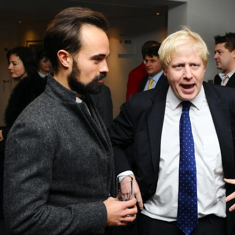 Boris Johnson granted the Russian-born newspaper owner Evgeny Lebedev, left, a seat in the House of Lords.