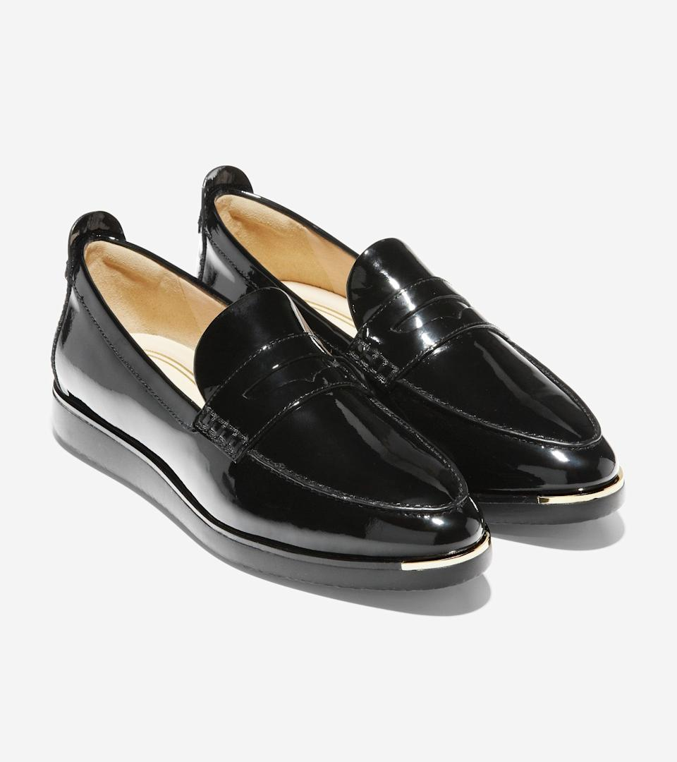 """<h2>Cole Haan</h2><br><strong>Sale:</strong> Extra 20% off select markdowns and items up to 70% off <br><strong>Dates:</strong> Now - January 19<br><strong>Promo Code:</strong> EXTRA<br><br><em>Shop</em> <strong><em><a href=""""http://colehaan.com"""" rel=""""nofollow noopener"""" target=""""_blank"""" data-ylk=""""slk:Cole Haan"""" class=""""link rapid-noclick-resp"""">Cole Haan</a></em></strong><br><br><strong>Cole Haan</strong> Grand Ambition Troy Slip-On Sneaker, $, available at <a href=""""https://go.skimresources.com/?id=30283X879131&url=https%3A%2F%2Fwww.colehaan.com%2Fgrand-ambition-troy-slip-on-sneaker-black-patent-leather%2FW19836.html"""" rel=""""nofollow noopener"""" target=""""_blank"""" data-ylk=""""slk:Cole Haan"""" class=""""link rapid-noclick-resp"""">Cole Haan</a>"""