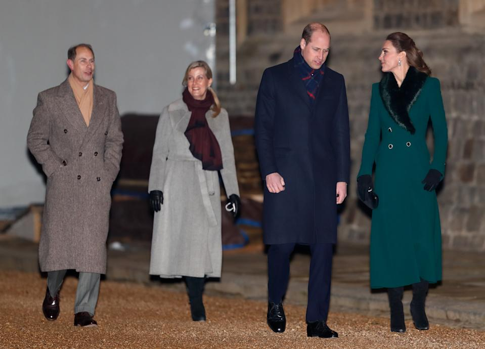 Prince Edward, Earl of Wessex, Sophie, Countess of Wessex, Catherine, Duchess of Cambridge and Prince William, Duke of Cambridge