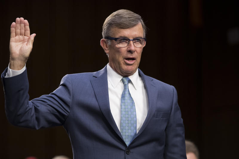 Joseph Maguire, now the acting director of national intelligence, appears before the Senate Intelligence Committee to be confirmed to run the National Counterterrorism Center, on Capitol Hill in Washington last year. (Photo: J. Scott Applewhite/AP)