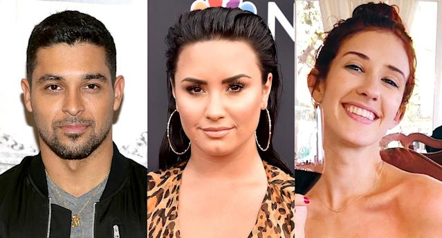 Wilmer Valderrama, Demi Lovato, and Dani Vitale. (Photo: Getty Images/Instagram)