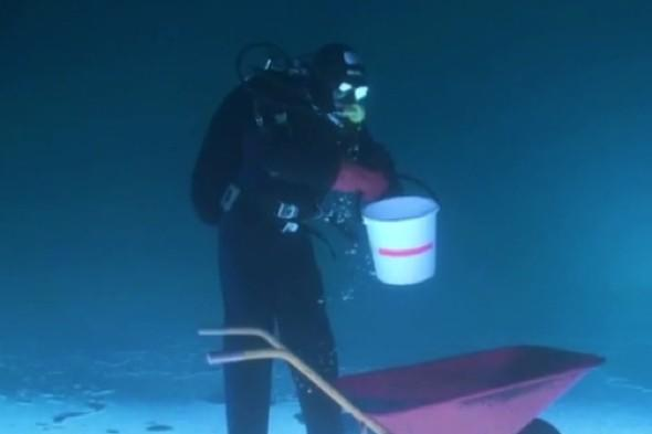 Amazing video: Upside down divers in Finland are internet smash