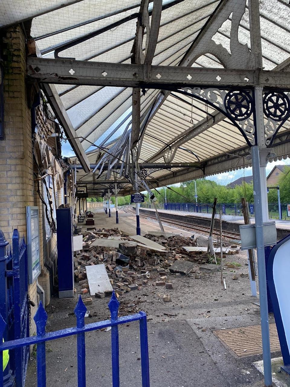 The station was closed following the incident (Northwich fire station/PA)