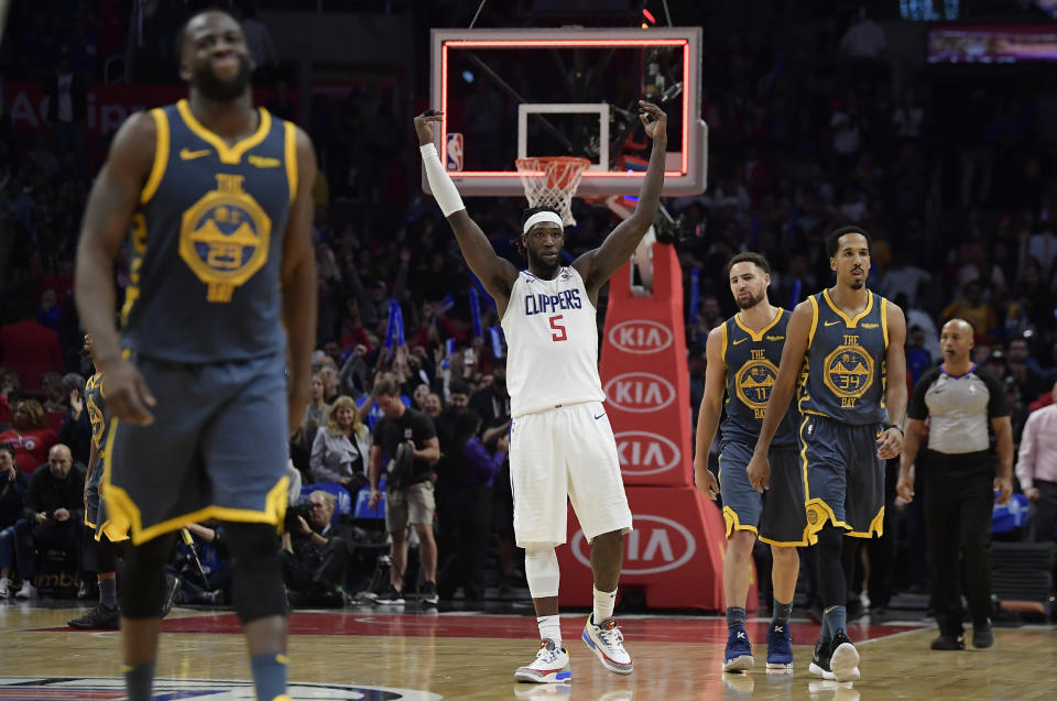 The end of regulation did not go according to plan for Draymond Green and the Warriors, assuming there was a plan. (AP Photo)