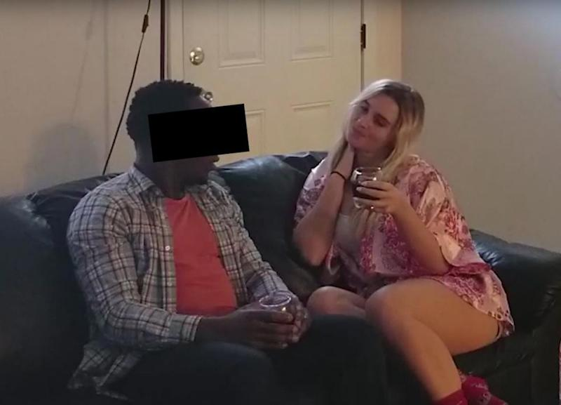 The girlfriend asked the best friend over to her house to ask him to help her move. Photo: YouTube/To Catch a Cheater