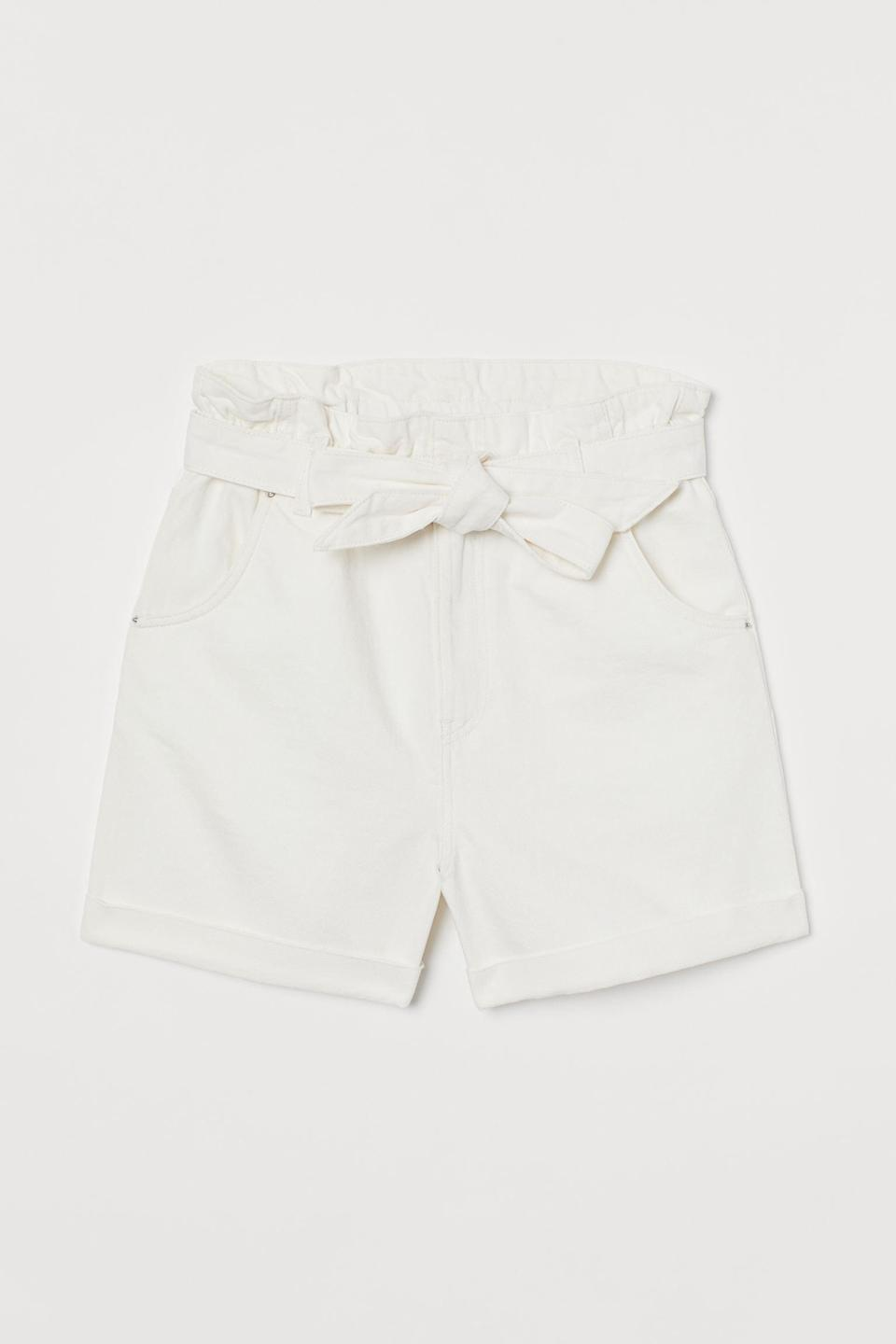 <p>These <span>H&amp;M Denim Paper-Bag Shorts</span> ($13, originally $30) feature both front and back pockets, making them super practical. They also come in a few different washes.</p>