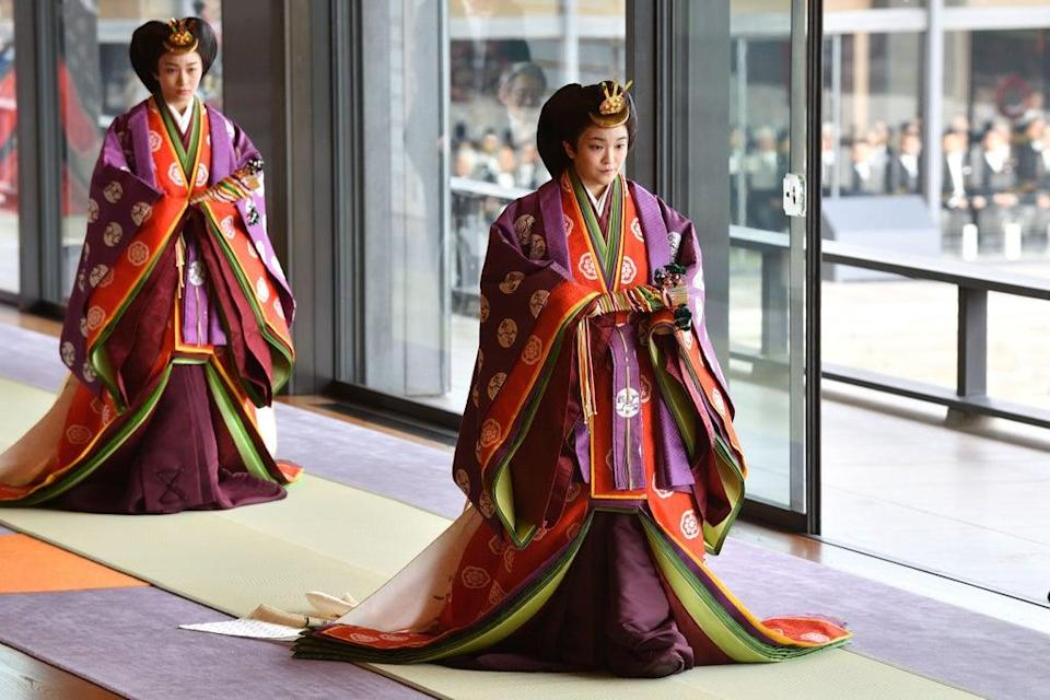 Princess Mako attends the enthronement ceremony at Tokyo's Imperial Palace in 2019 (POOL/AFP via Getty Images)