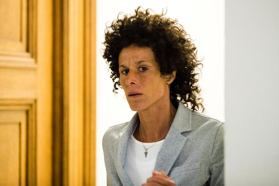 Andrea Constand walks from the courtroom after testifying at Bill Cosby's sexual assault trial at the Montgomery County Courthouse in Norristown, Pennsylvania, U.S. June 6, 2017.  REUTERS/Matt Rourke/Pool  TPX IMAGES OF THE DAY