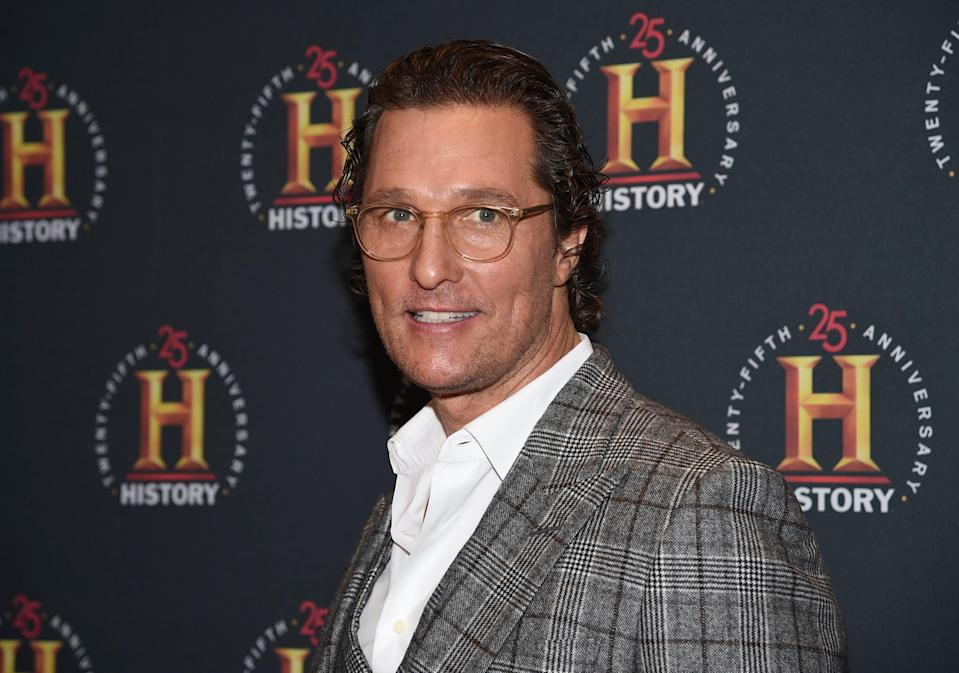 """Matthew McConaughey described America as """"going through puberty"""" in his July 4 video message."""