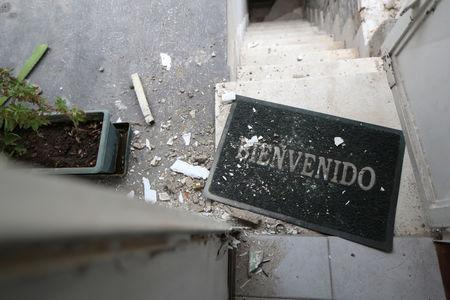 FILE PHOTO: Damage is seen at the residence of Roberto Marrero, chief of staff to opposition leader Juan Guaido, after he was detained by Venezuelan intelligence agents, according to legislators, in Caracas, Venezuela March 21, 2019. REUTERS/Ivan Alvarado/File Photo