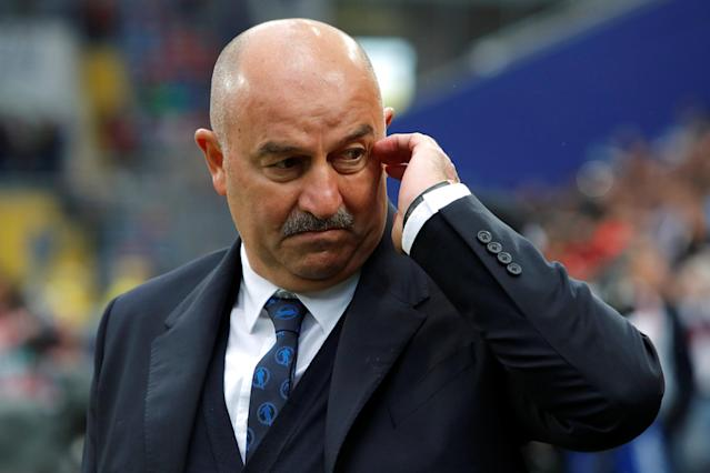 Soccer Football - International Friendly - Russia vs Turkey - VEB Arena, Moscow, Russia - June 5, 2018 Russia coach Stanislav Cherchesov REUTERS/Sergei Karpukhin