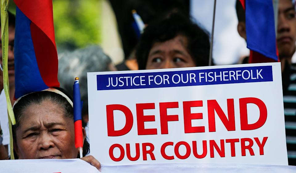 The sinking of the Gem-Ver in June spurred demonstrations in the Philippines. Photo: EPA