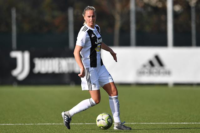"""Petronella Ekroth called out the Juventus organization for """"forbidding"""" players from talking about Cristiano Ronaldo's rape case. (Photo by Valerio Pennicino - Juventus FC/Juventus FC via Getty Images)"""
