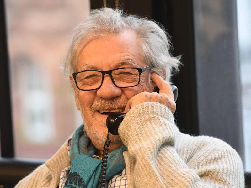 Sir Ian McKellen at the Help a Hungry Child Telethon: Evening Standard/Jeremy Selwyn