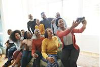 """<p>This might seem obvious—but with all of the hustle and bustle surrounding Turkey Day, it's easy to forget to snap a photo to commemorate the occasion. For the ultimate group shot, surprise your guests with a pair of coordinating, <a href=""""https://www.oprahmag.com/style/g34362491/christmas-pajamas-for-women/"""" rel=""""nofollow noopener"""" target=""""_blank"""" data-ylk=""""slk:holiday-themed pajamas"""" class=""""link rapid-noclick-resp"""">holiday-themed pajamas </a>placed at each seat which they can change into after the big meal. (Or, asks guests to bring their own). Then, gather round your friends and family for a group picture that you can share on social media with <a href=""""https://www.oprahmag.com/life/a28796233/thanksgiving-captions/"""" rel=""""nofollow noopener"""" target=""""_blank"""" data-ylk=""""slk:these clever captions"""" class=""""link rapid-noclick-resp"""">these clever captions</a>. </p>"""