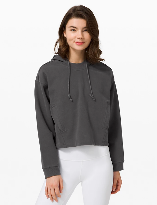 Cool Crescent Hoodie in graphite grey