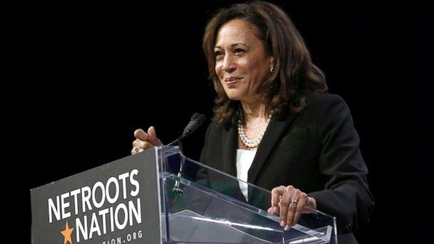 PHOTO: Senator Kamala D. Harris speaks at the Netroots Nation annual conference for political progressives in New Orleans, Aug. 3, 2018. (Jonathan Bachman/Reuters)