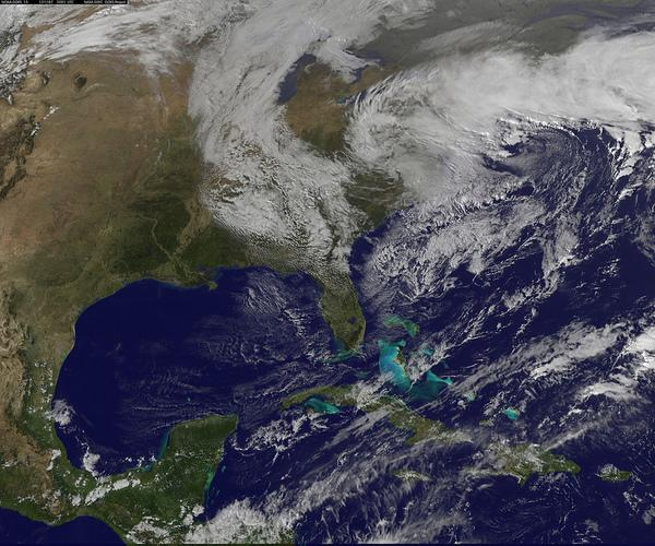 Record Snow-Producing Nor'easter Spotted From Space